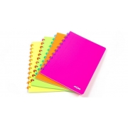 Caderno Personalizável Atoma Neon A4, 72 Folhas Pautadas