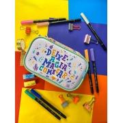 Estojo Médio Criatividade Mágica - 50 canetas, Tipodela