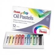 Giz Pastel Oleoso Pentel - Estojo com 12 cores