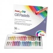 Giz Pastel Oleoso Pentel - Estojo com 36 cores