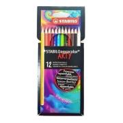 Lápis de Cor Aquarelável Stabilo Arty - 12 cores