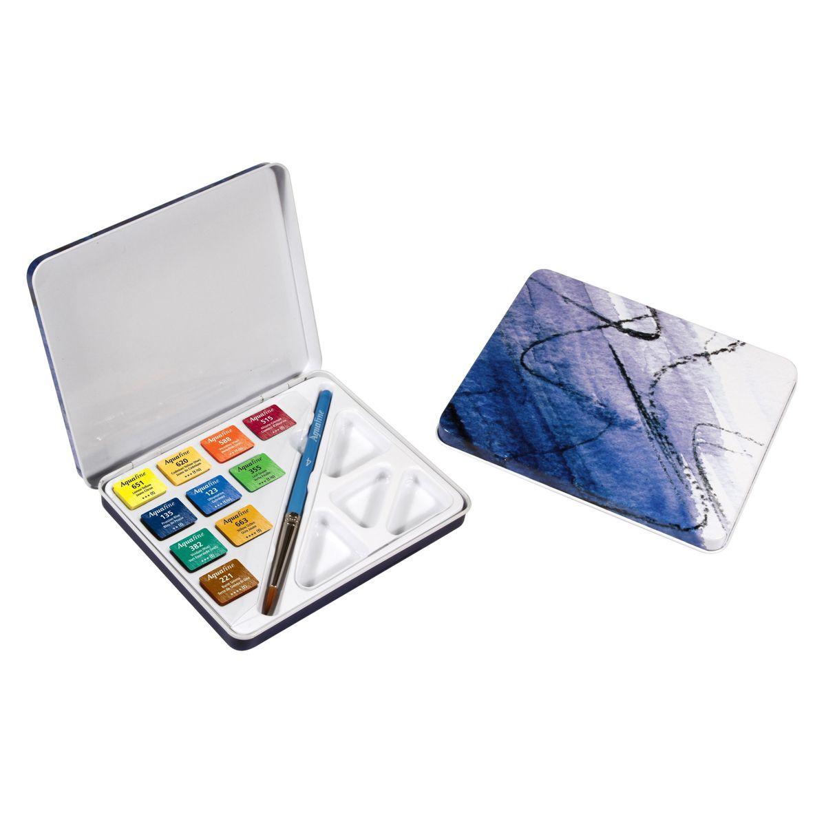 Aquarela em Pastilha Profissional Daler Rowney - Lata com 10 cores