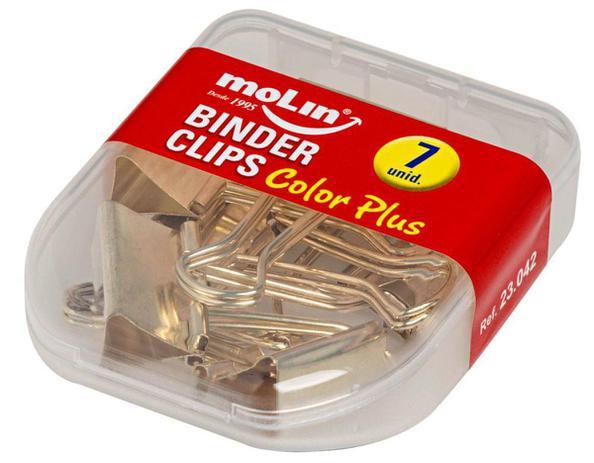 Binder Clips grande - 7 unidades - Ouro