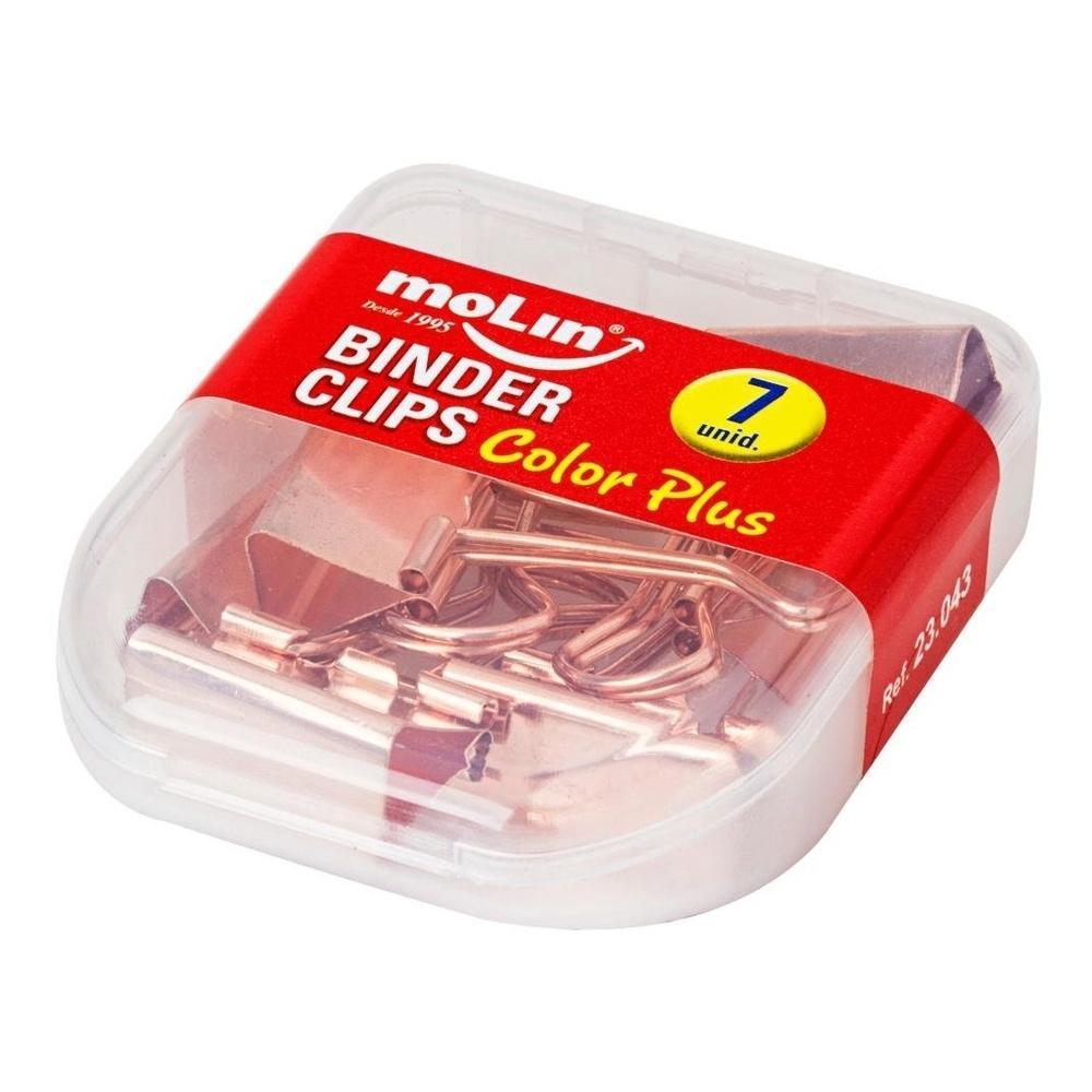 Binder Clips grande - 7 unidades - Rose Gold