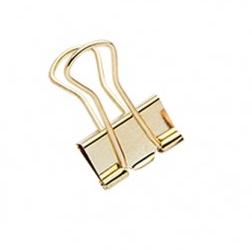 Binder Clips médio - 12 unidades - Ouro