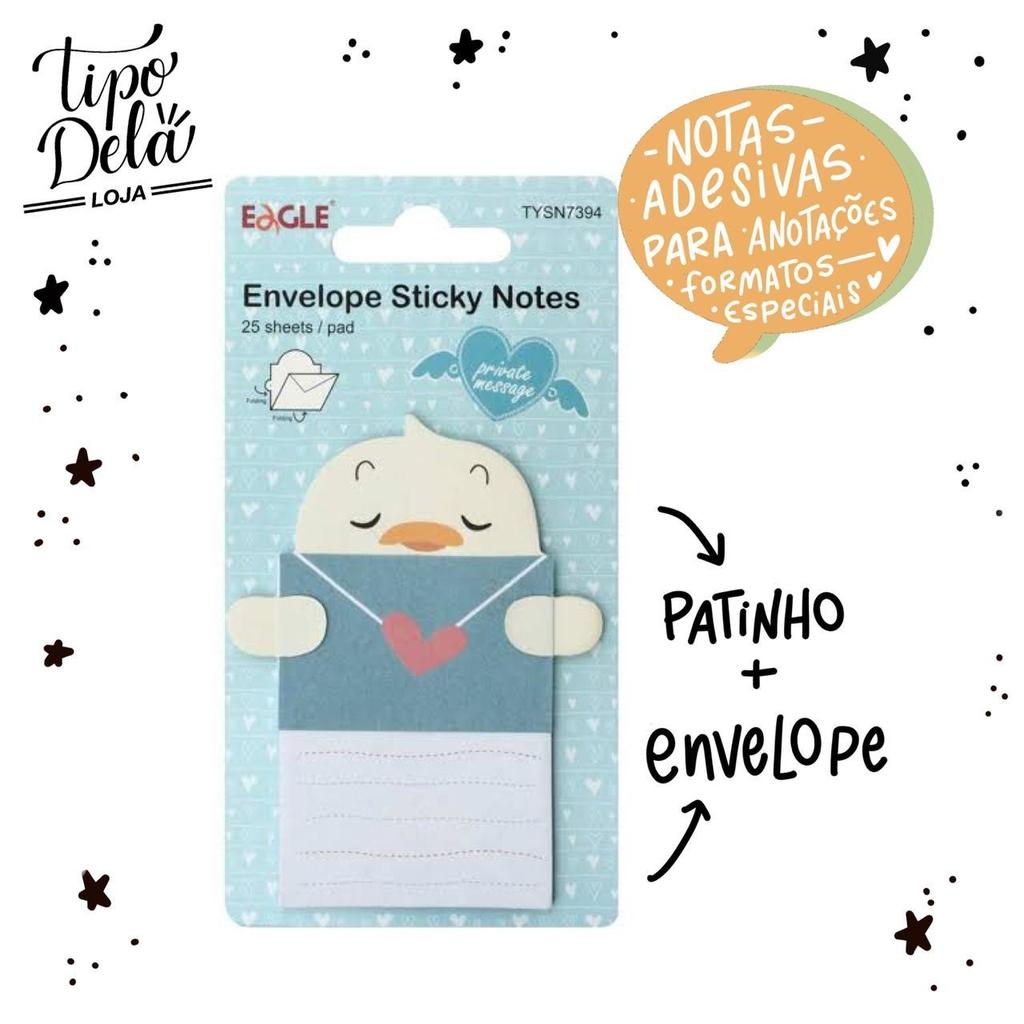 Bloco Adesivo Envelope Pato - 25 folhas