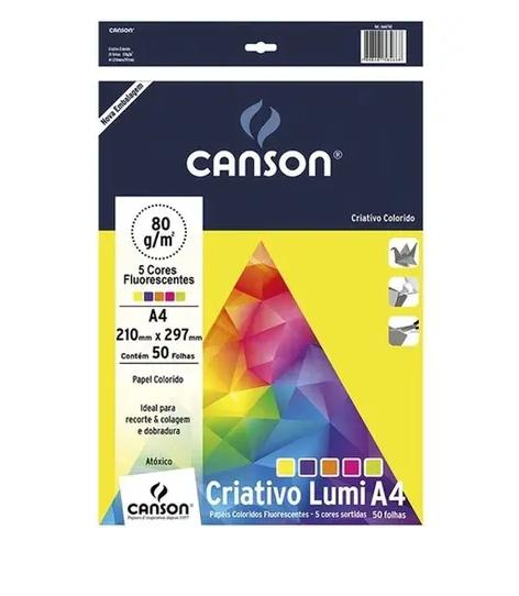 Bloco Canson A4 Colorido - 180g/m²,  25 folhas