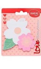 Bloco de Notas Adesivas Flores - 25 folhas