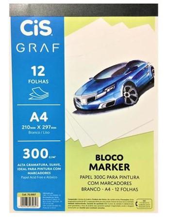 Bloco Marker CIS Graf - A4, 300g/m², 12 folhas