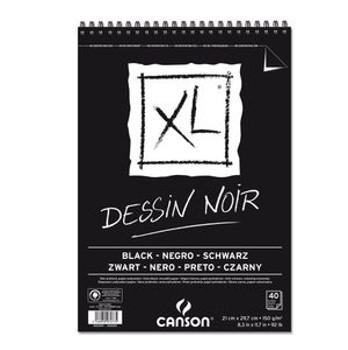 Bloco XL Canson A4 Dessin Noir - 150g/m²,  40 folhas