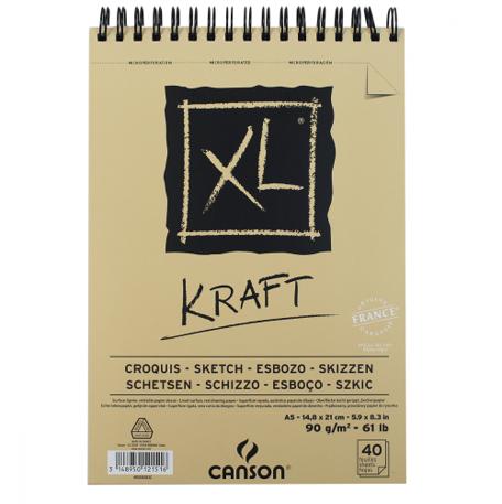 Bloco XL Canson A4 Kraft - 90g/m²,  60 folhas