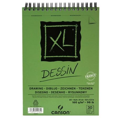 Bloco XL Canson A5 Dessin - 160g/m²,  30 folhas