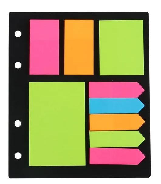 Blocos + Marcadores Autoadesivos Neon - 25 folhas por Design