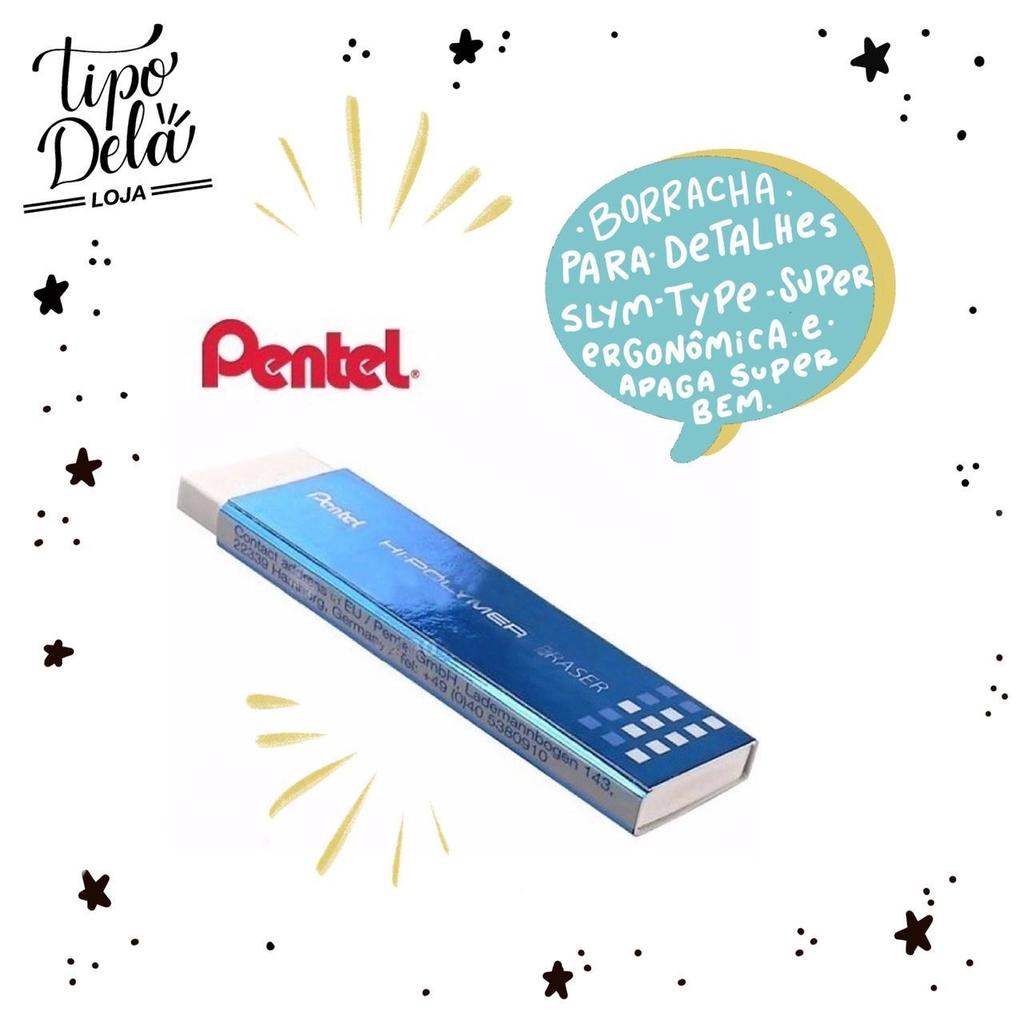 Borracha Pentel Hi-Polymer Slim - Ultrafina para detalhes