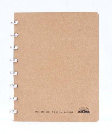Caderno Atoma Amazing A5, 72 Folhas Pautadas Creme