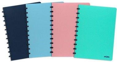 Caderno Personalizável Atoma Pastel A4, 72 Folhas Pautadas