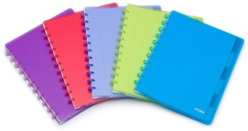 Caderno Personalizável Atoma Plus A4, 60 Folhas Quadriculadas