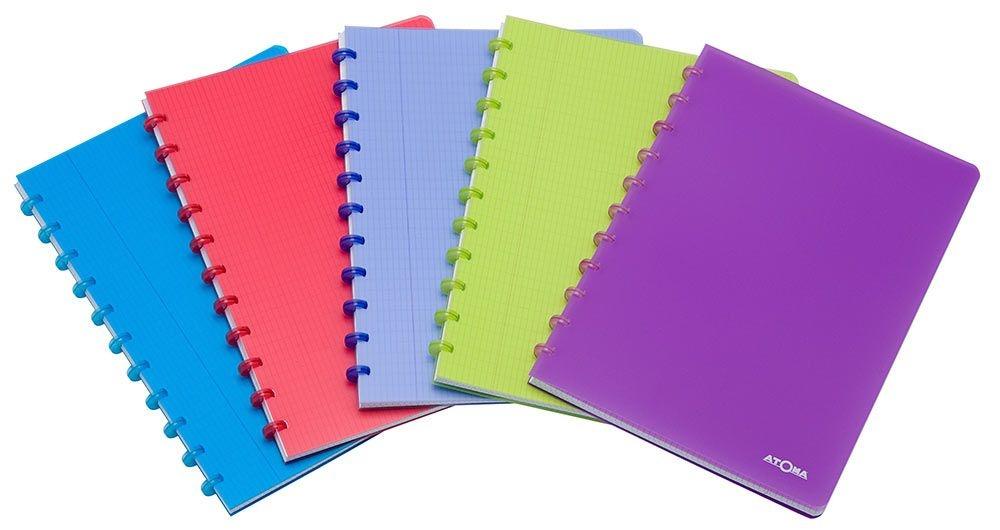 Caderno Personalizável Atoma Tradicional A4, 72 Folhas Quadriculadas