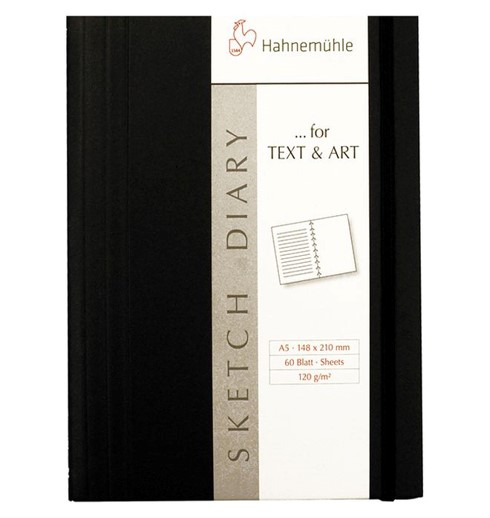 Caderno Sketch Diary Hahnemühle- A5, 120g/m², 60 folhas duplas (Lisa + Pautada)