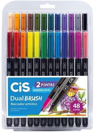 Caneta Dual Brush CIS - Estojo com 48 cores