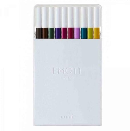 Caneta Emott Fine 0.4 Calmtone Dark Colors - Estojo com 10 cores