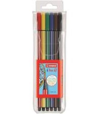 Caneta Stabilo Ponta Grossa - Estojo com 6 cores
