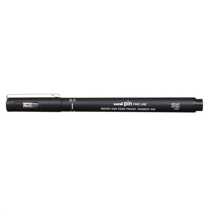 Caneta UniPin 0,5mm - Fine Line, Preta
