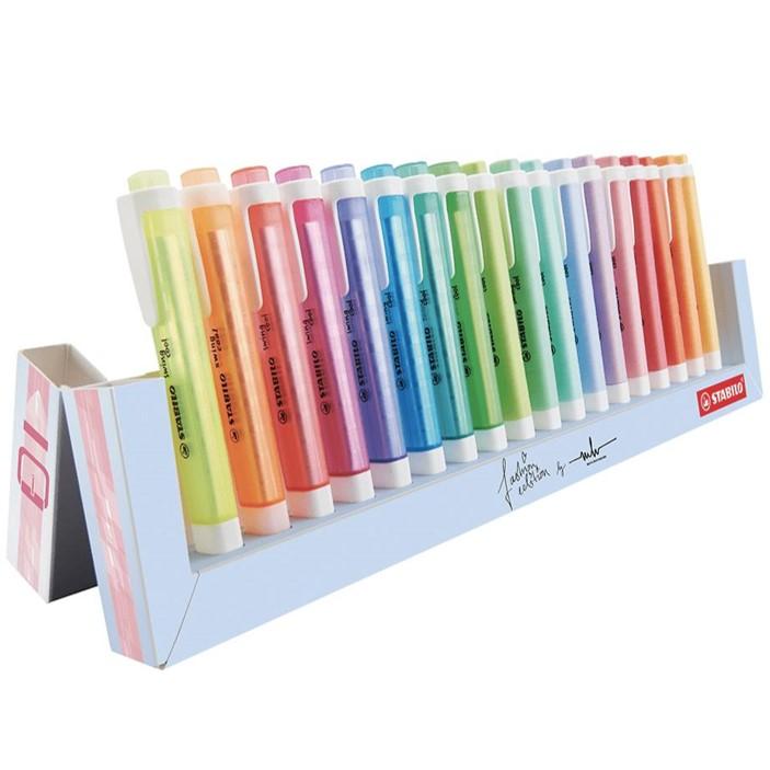 Display Marcador Stabilo Swing Cool - 10 cores Neon + 8 cores Pastel