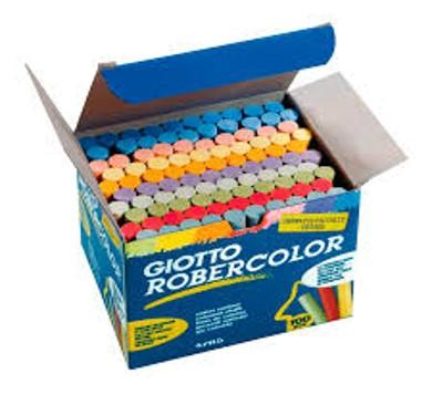 Giz Escolar Giotto Colorido - 100un.