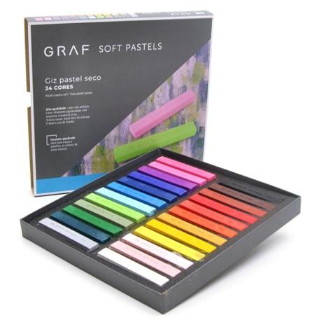 Giz Pastel Seco Cis Graf - 24 cores tradicionais