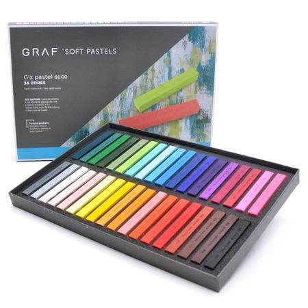 Giz Pastel Seco Cis Graf - 36 cores tradicionais