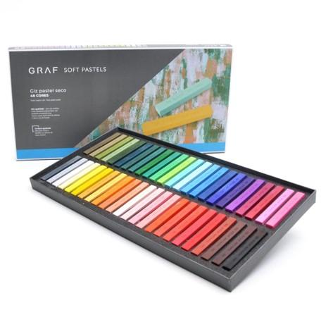 Giz Pastel Seco Cis Graf - 48 cores tradicionais