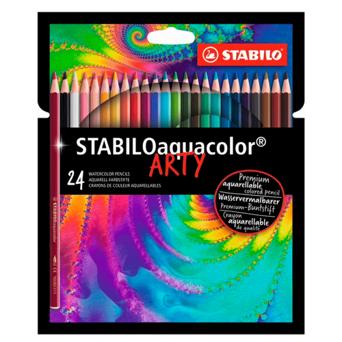 Lápis de Cor Aquarelável Stabilo Arty - 24 cores