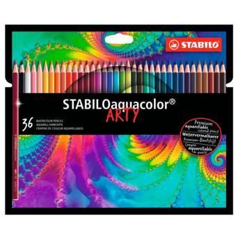 Lápis de Cor Aquarelável Stabilo Arty - 36 cores