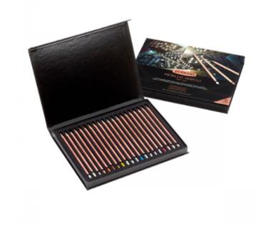 Lápis de Cor Metallic Derwent Edição Especial - Estojo com 24 cores