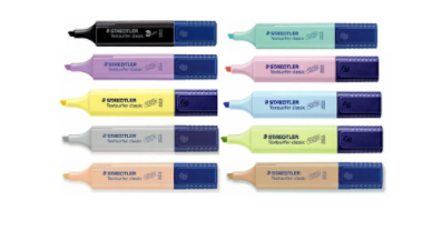 Marca Texto Staedtler TextSurfer - Cores Pastel