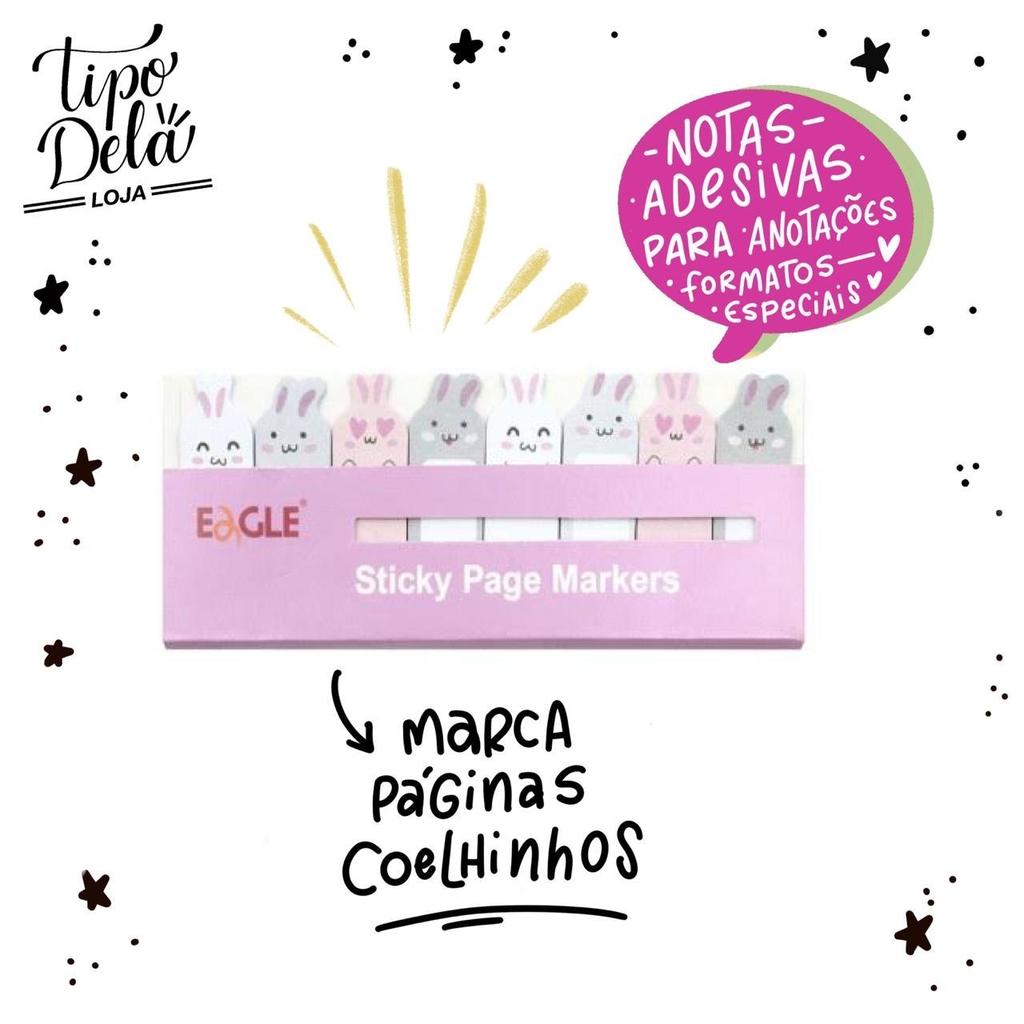 Marcador de Página Coelho - 15 folhas por Design