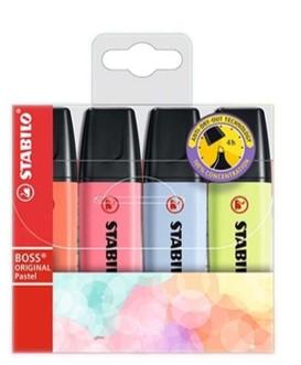 NOVA Stabilo Boss Pastel - 4 cores
