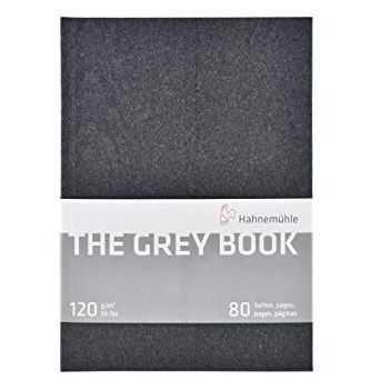Sketchbook Grey Book - Folhas tom Cinza, A5, 120g/m2, 40 folhas