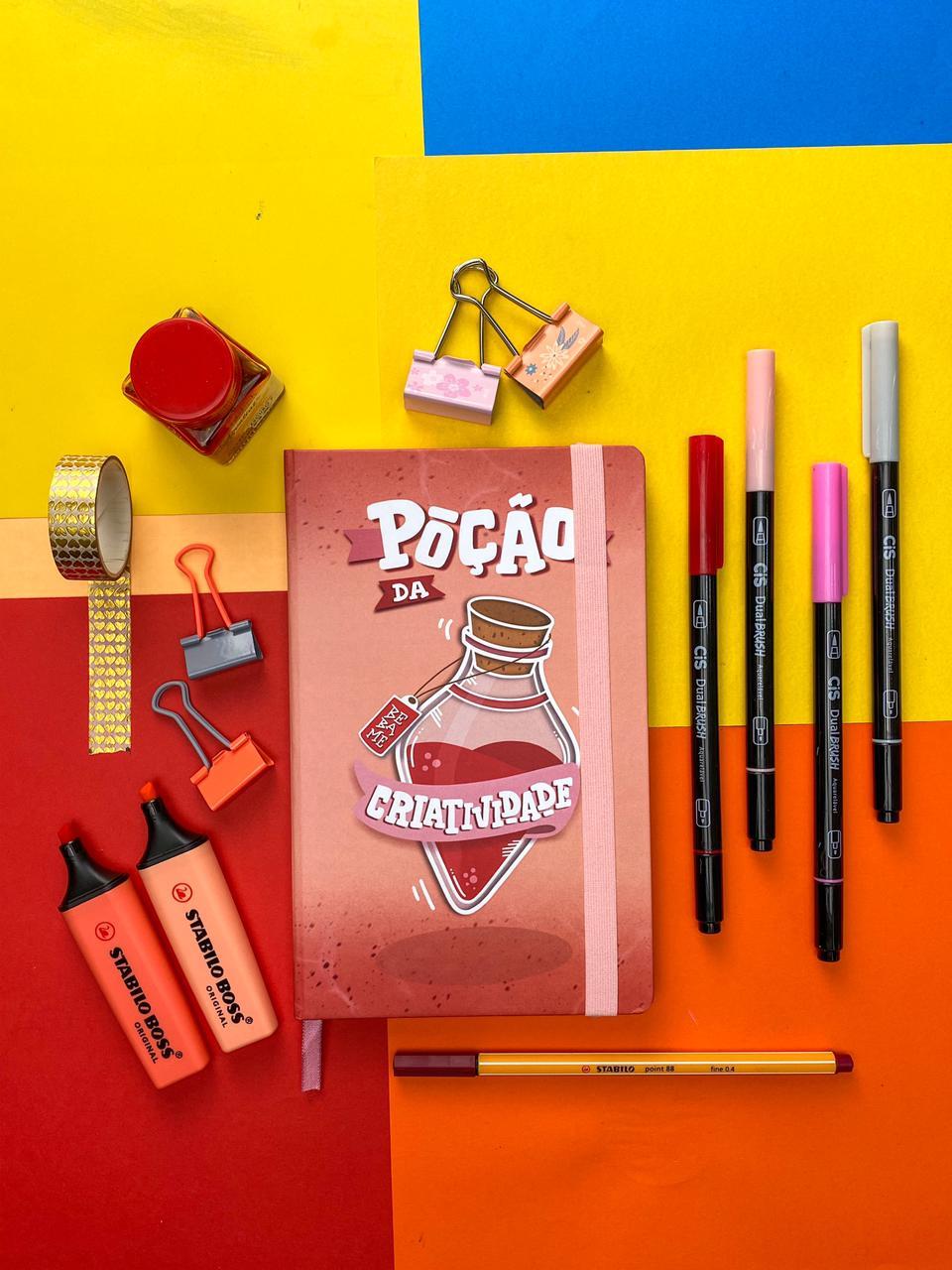 """Sketchbook """"Poção de Criatividade"""" - A5, 90g/m²"""