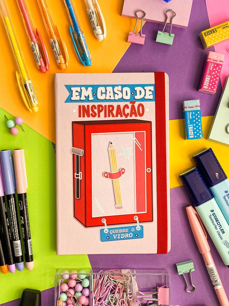 """Sketchbook """"Quebrar em Caso de Inspiração"""" - A5, 90g/m²"""