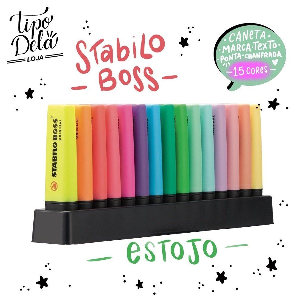 Stabilo Boss  - 9 cores FLUO + 6 cores Pastéis