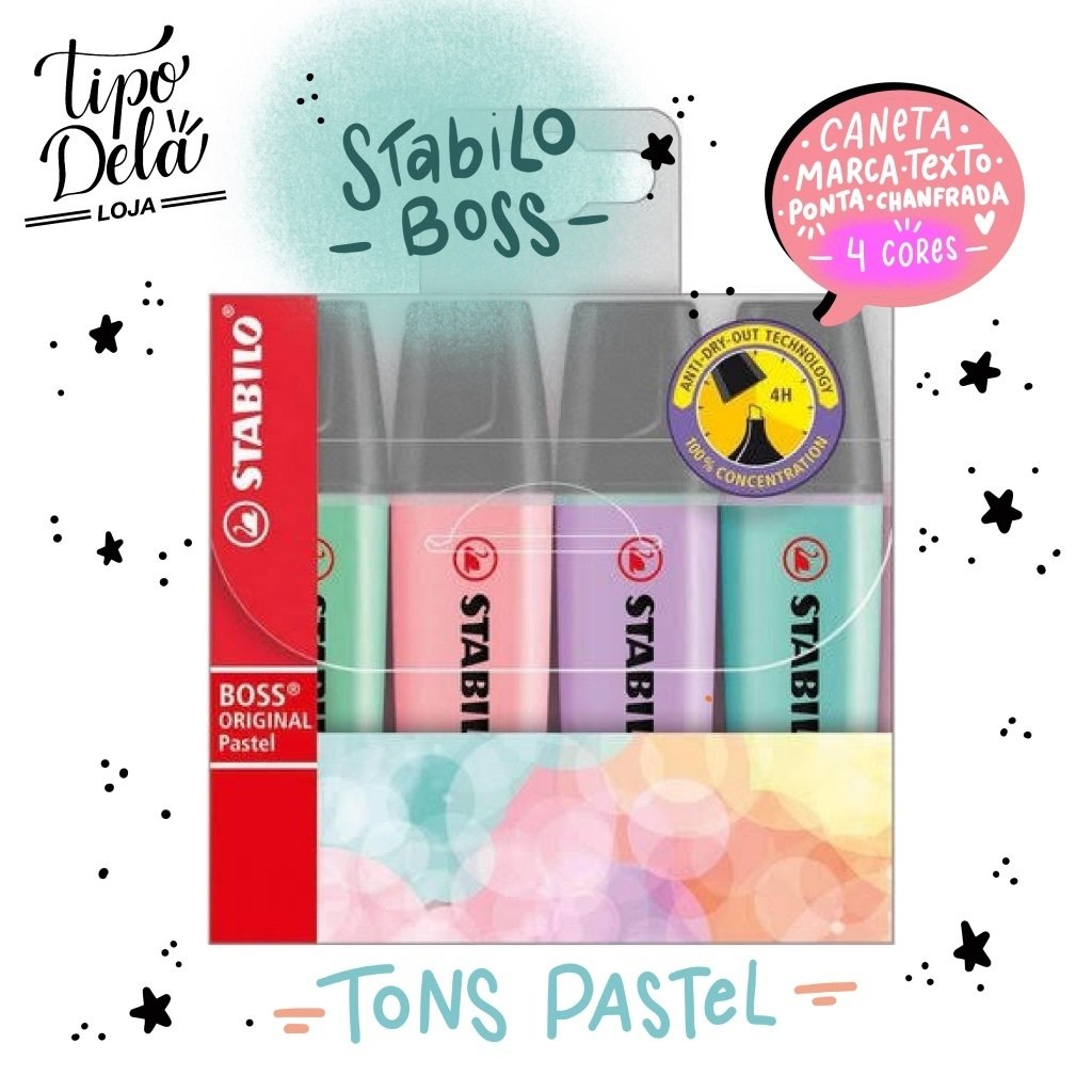 Stabilo Boss Pastel - 4 cores