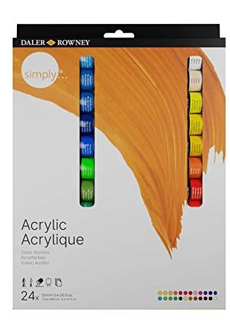 Tinta Acrílica Profissional Daler Rowney - Estojo de 24 cores