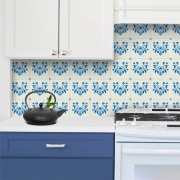 Adesivo de Azulejo Arabesco Azul