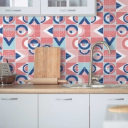 Adesivo de Azulejo Flat Shapes com Linhas 6