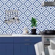 Adesivo de Azulejo Geométrico Azul 2