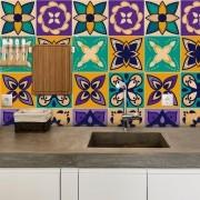 Adesivo de Azulejo Paleta Roxa 2