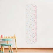 Adesivo de Parede Regua Infantil Granulado Colorido