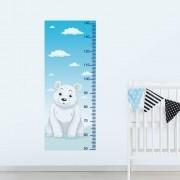 Adesivo de Parede Regua Infantil Urso Polar